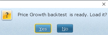 Background backtest ready