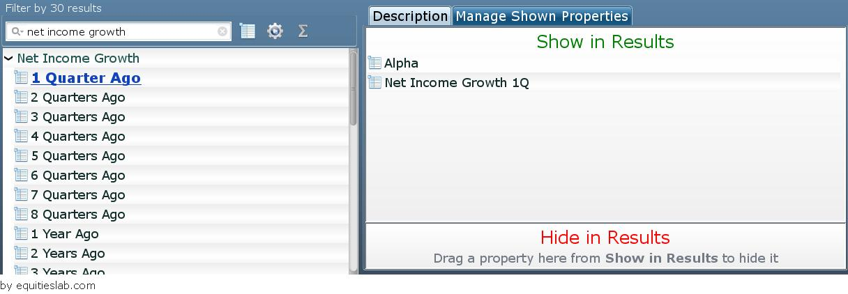 Plotting Net Income Growth